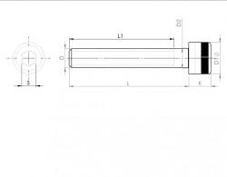 Vis tête cylindrique 6 pans creux série 1936 1/2 NC 13 filets  X 3