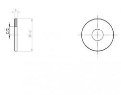 Rondelle plate série large L