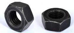 décolleté ISO 4032 acier doux zingué noir