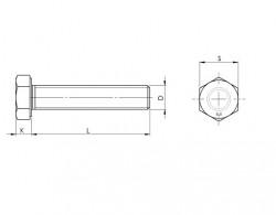 Vis tête hexagonale entièrement filetée ISO 4017 M8 X 1.25 X 25mm cl. 8.8 zingué Ecotri®