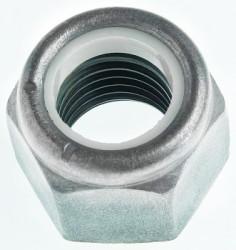 Ecrou hexagonal autofreiné (anneau non metallique)  M30 X 3.50 acier cl.8 zinc nickel gris NYLSTOP®