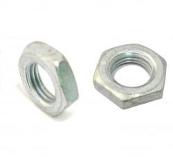 Ecrou bas hexagonal Hm DIN 439 M20 X 2.50 acier zingué blanc
