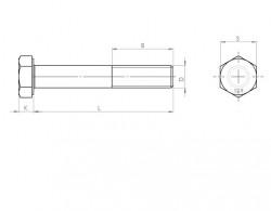 pas fin acier bruni DIN 960 - 961