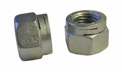 Ecrou hexagonal autofreiné tout métal à double fente NFE 25411 M8 X 1.25 acier cl.8 zinc chrome 3 150hBS