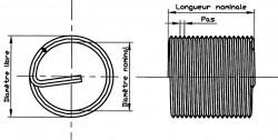 Filet rapporté Vrac Métrique standard DIN 8140 6mm X 2D inox 304 RECOIL®